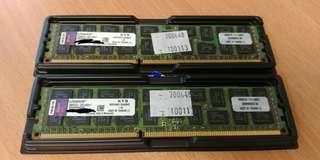 Kingston 8GB x 2 DDR3 1600MHz ECC Server Ram KVR16R11D4/8HC