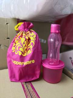 Eco bottle with Tupperware