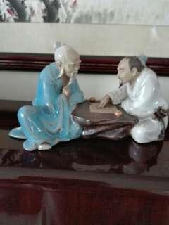 Porcelain 下象棋 18cm width