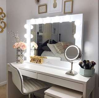 Sale! Vanity table and framed mirror