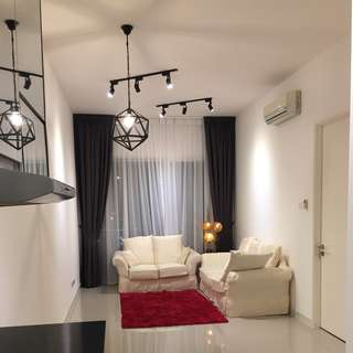 [For Rent] 2 Rooms Partially Furnished Brand New Desa Green Apartments, Taman Desa