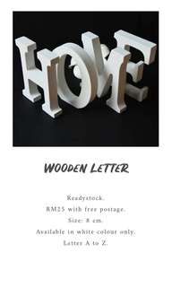 READYSTOCK Wooden Letter