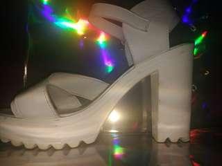 Girl Xpress White Heels