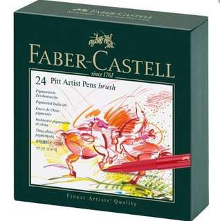🚚 BNIP Faber Castell India ink Pitt Artist Pen B studio box of 24