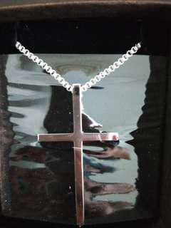 Titanium steel Christine cross necklace amulet