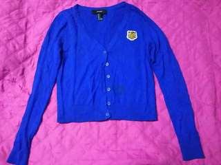 Repriced! Forever 21 royal blue cardigan S