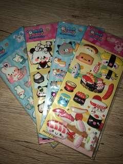 cute puffy stickers !