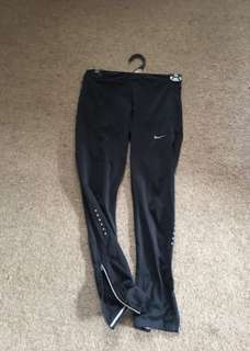 Nike long tights with zip