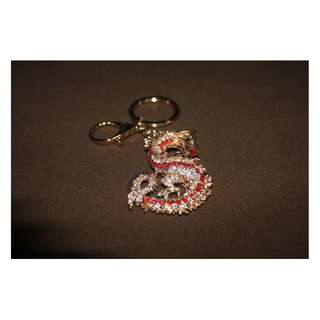 Gold Dragon Keychain with jewels