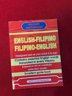 English-Filipino Filipino-English Dictionary