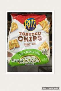 Ritz Toasted Chips Sour Cream & Onion 229g