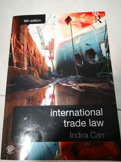 INTERNATIONAL TRADE LAW INDIRA CARR