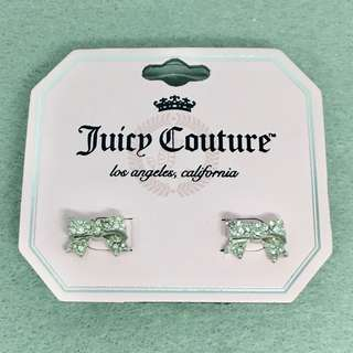 Juicy Couture Sample Earrings 銀色閃石蝴蝶結耳環
