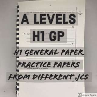H1 GP Practice Papers | A Level General Paper