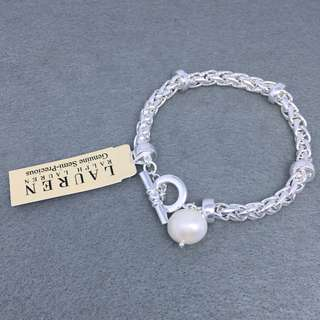 Ralph Lauren Sample pearl Bracelets 銀色珍珠手鍊