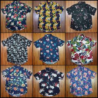 SALE Floral Full Button Down Polo Summer Streetwear Fit