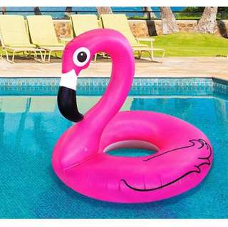 Giant pink flamingo float