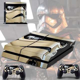 Ps4 skin with 2 controller skin Star Wars