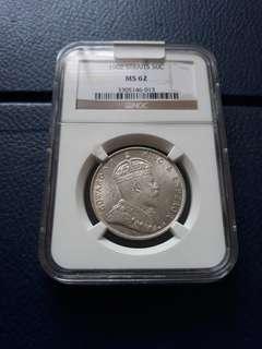 Strait settlement 1902 50 cents