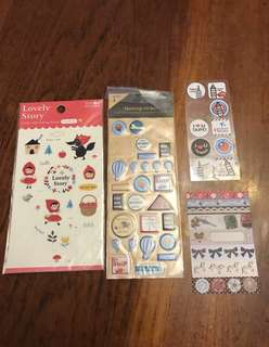 Variety of scrapbooking Stickers