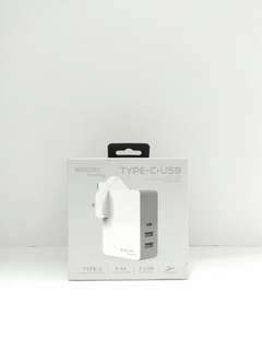 🚚 MERCURY Max plug Type C + USB Charger