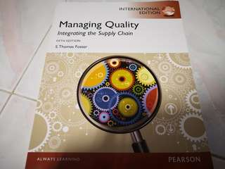 MANAGING QUALITY INTEGRATING THE SUPPLY CHAIN
