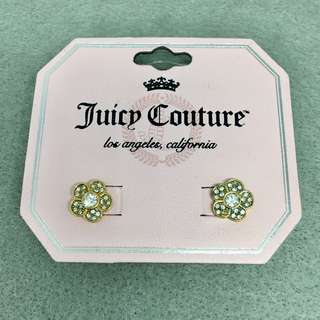Juicy Couture Sample Earrings 金色閃石花花耳環