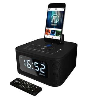 Majority Neptune Docking Station Speaker with Clock (BLACK)
