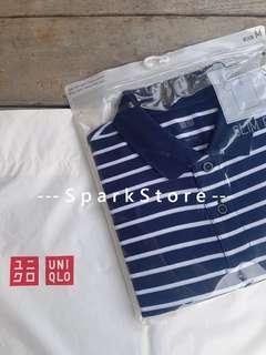 Uniqlo Kaos Polo Shirt Pique Dalam Kemasan