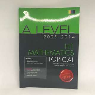 H1 Math TYS Ten Year Series | A Levels Mathematics | WITH SOLUTION
