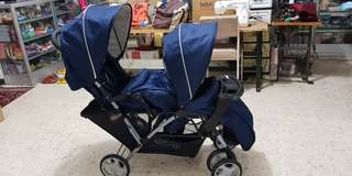 Stroller tandem graco double twins