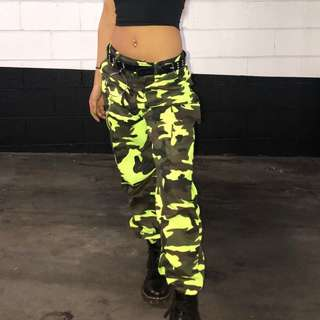 CAMO LIME GREEN TROUSERS
