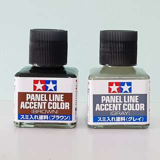 Tamiya Panel Line Accent Color (Grey, Brown)