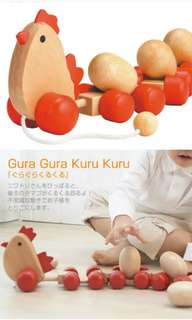Hen & Eggs walker & pull toy
