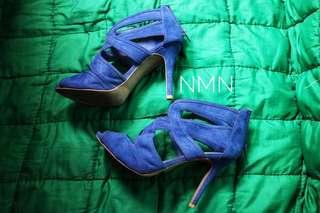 Payless x Christian Siriano Blue High Heels