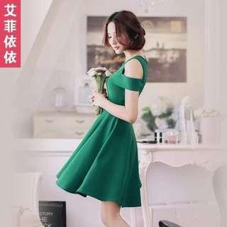 Women's dress with off shoulder