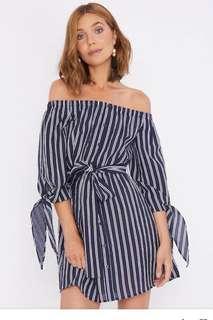 CALLI off shoulder mini dress