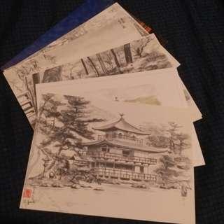 大阪 京都postcard