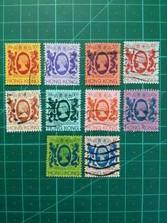 [已售三份,均一價$10]1982 伊莉莎白二世第四組通用票 舊票十枚