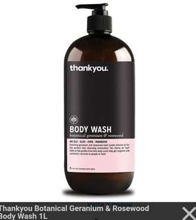 🚚 Geranium and rosewood Body Wash