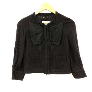 黑色外套 Viktor & Rolf black with bow cardigan size 40
