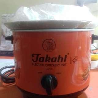 Takahi Slow Cooker 1,2 lt Gratis Corn kerneler