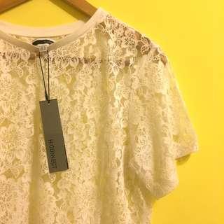 🚚 H:connect 蕾絲透膚上衣