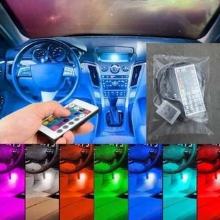 Lampu Led Kolong Dashboard Interior Mobil remote besar