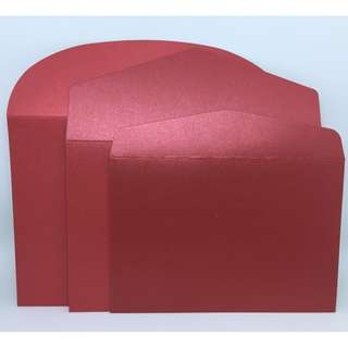 Red Envelope w/ Round Flap (10 pieces)