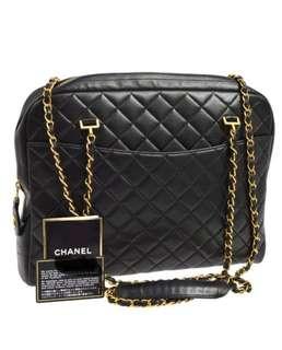 Chanel 極實用黑色大size tote bag