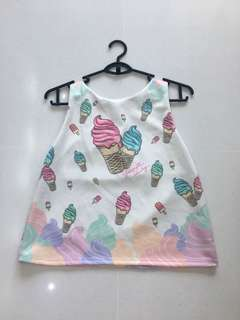 🚚 Cute Ice-Cream Top
