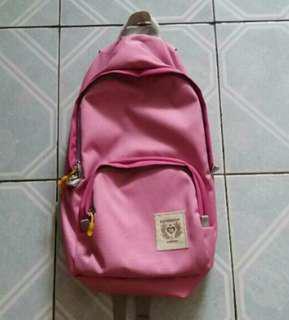 Export backpack ransel pink muda