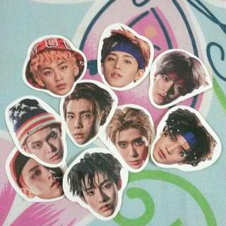 NCT 127 Limitless head sticker set