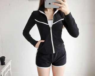 In Stock 💕3 pieces suit Korean version of UV Rash Guard,  Swimsuit, Swimwear, Beach Wear, Snorkel Wetsuit, Sport wear